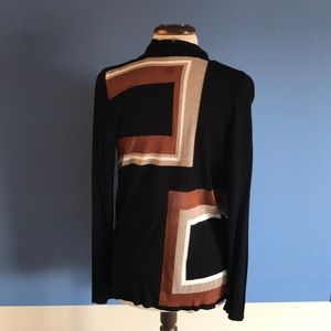 INC Color Block Sweater Cardigan